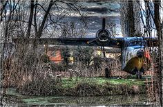 HDR grass and old plane
