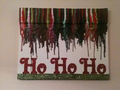 Christmas melted crayon art