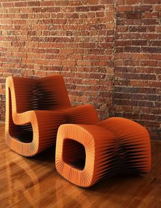 Phillips Collection's Seat Belt Rocking Chair & Ottoman featured in Design Bureau's Treasure Hunting » Design Bureau