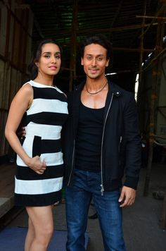 Snapped: Shraddha Kapoor & Tiger Shroff during Baaghi Promotion Event