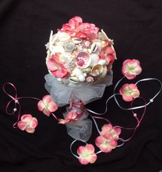 Sea Shell Bouquet Seashell Hawaiian Wedding Pink Bridesmaid