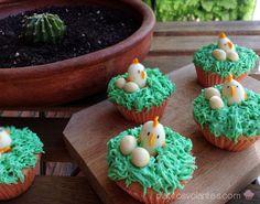 Cupcakes de pollitos