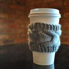Coffee Cozy  Reusable Coffee & Tea Warmer by threadologie on Etsy, $6.00