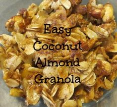 Easy Coconut Almond Granola - Life With Captain Fussybuckets