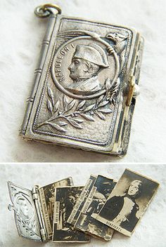 Miniature Napoleon photo album book charm ~ from A Genuine Find