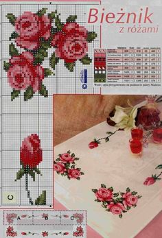 This Pin was discovered by Bet Cross Stitch Bookmarks, Cross Stitch Rose, Cross Stitch Borders, Cross Stitch Flowers, Cross Stitch Charts, Cross Stitch Embroidery, Hand Embroidery, Cross Stitch Patterns, Cool Patterns