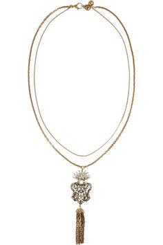 Lulu Frost Crest Tassel crystal necklace NET-A-PORTER.COM