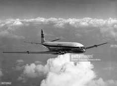 After public demonstration at the Farnborough Air Show in September 1949 De Havilland's Comet 1 put in record high speed proving flights at over De Havilland Comet, Stock Pictures, Stock Photos, Commercial Plane, Airplane Fighter, British Airways, Air Show, Royalty Free Photos, Fighter Jets