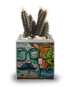 Vasinho de cimento - Street Art