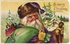 Shop Vintage Santa Claus Postcard created by Vintage_Gifts. Very Merry Christmas, Father Christmas, Christmas Images, Christmas Greetings, Vintage Christmas, Christmas Cards, Christmas Holidays, Christmas Ideas, Free Animated Wallpaper