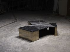 Mixed Marble Coffee Table by Brian Thoreen