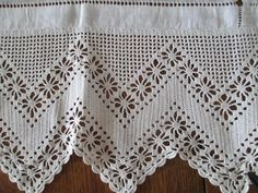 Vintage EXTRA wide Crocheted lace linen- Arts & Crafts period- Small Square Tablecloth - Antique.