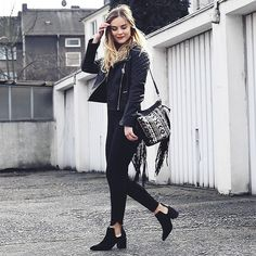 Get this look: http://lb.nu/look/8094304  More looks by Romina  M.: http://lb.nu/romina  Items in this look:  Pylo Bag, Zara Cut Out Boots, Topshop Petite Leather Jacket