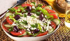 Receita de Salada grega - Salada - Dificuldade: Fácil - Calorias: 489 por porção