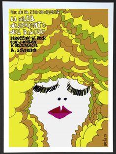 """Cuban movie Poster for German film""""SLEEPING Beauty""""La bella durmiente.Doll.Art."""