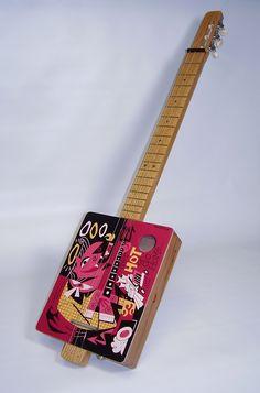 Custom Handpainted Cigar Box guitar by Derek Yaniger