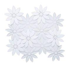 25 Design Bathroom Daisies Ideas Flower Tile Mosaic Tiles Mosaic