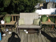 Outdoor Rocking loveseat with endtables