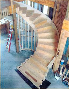 how to build a curved staircase - Google Search
