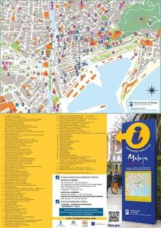 Malaga hotels and sightseeings map