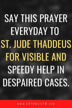 Catholic Prayer For Healing, Prayers For Healing, St Jude Prayer, Saint Jude, Catholic Saints, Prayer Cards, God Jesus, Encouragement, Mary