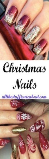 36 Sparkle Glitter Acrylic Nail Designs Ideas for Short Square & Almond Nails - Nails - Acrylic nails - Shellac Designs, Blue Nail Designs, Winter Nail Designs, Christmas Nail Designs, Christmas Nails, Art Designs, Winter Christmas, Christmas Glitter, Christmas Ideas