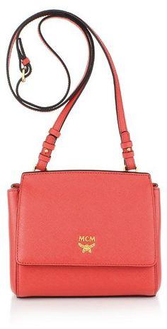 MCM Elda Saffiano Crossbody Mini Poppy Red auf shopstyle.de