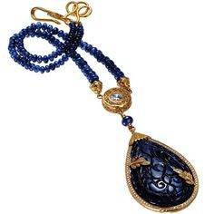Necklace of 18kt gold, sapphires and diamonds, Donna Distefano