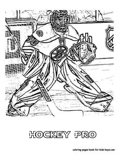 fado chicago st patricks day coloring pages | Coloring Page of Hockey Goalie. You Can Print Out This # ...