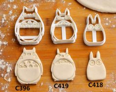 Totoro  Cookie Cutter  birthday favor party cake topper Fondant supplies gift cupcake fabric custom baby ideas design girl pin ear C396
