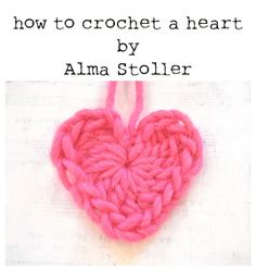 Tutorial: how to crochet a heart -- Sigh...if only I spoke crochet  :(