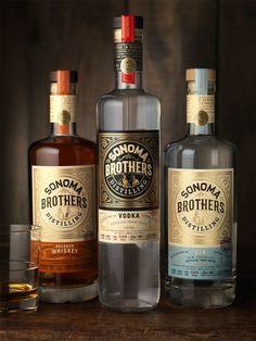 Sonoma Brothers Distilling — The Dieline - Branding & Packaging Design