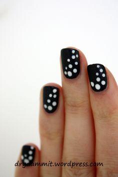 Little Black Book dotted nail art by Dry, Dammit! Cute Summer Nail Designs, Cute Summer Nails, Dot Nail Art, Finger Nail Art, Short Nails, Long Nails, Hair And Nails, My Nails, Creative Nails