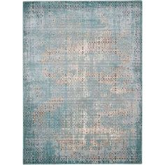 Anchor your living room or define areas in the den with this artfully crafted rug, showcasing a distressed design for antiqued appeal.