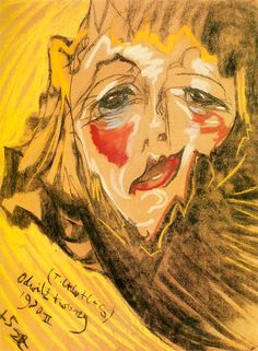 Portrait of Nena Stachurska (Odwilz twarzy) 1930 Stanislaw Ignacy Witkiewicz Max Beckmann, Franz Marc, Wassily Kandinsky, Abstract Faces, Abstract Art, Eugene Jansson, Karl Schmidt Rottluff, George Grosz, Paul Klee