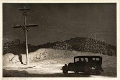 , 1932 by Martin Lewis on Curiator, the world's biggest collaborative art collection. Rockwell Kent, Norman Rockwell, Nocturne, Industrial Paintings, Chiaroscuro, American Artists, Printmaking, Street Art, Illustration Art