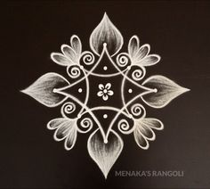 Easy And Simple Rangoli For Deepavali Simple Rangoli Kolam, Easy Rangoli Designs Diwali, Simple Rangoli Designs Images, Rangoli Designs Latest, Free Hand Rangoli Design, Rangoli Border Designs, Small Rangoli Design, Rangoli Designs With Dots, Flower Rangoli