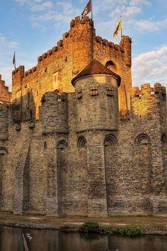 Medieval, Gravensteen Castle, Ghent, Belgium  photo via mirjana                                                                                                                                                      More