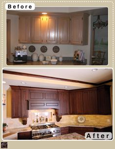 Beautiful before and after kitchen cabinet remodel