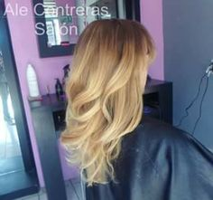 Ombre hair babylights blondie