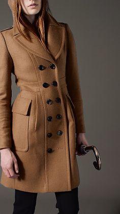 Bonded Wool Cashmere Military Coat   Burberry Scandal episode 3 Oliva's Coat
