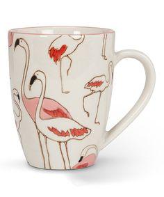 Take a look at this Ivory & Pink Flamingo Mug today!