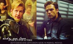 Two of my FAVORITE movies, I might add :) No matter what, I will always remember them as Fandral and Bucky.