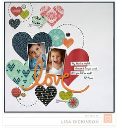 This is a scrapbook layout page that you can do yourself.  Perfect for doing a Valentine's Day layout page.  This is from Basic Grey using the J'adore collection.  All products can be purchased through Your Scrapbook Stash.