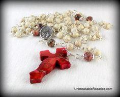 St Rita of Cascia Rosary Beads   www.UnbreakableRosaries.com