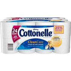 Cottonelle Clean Care Toilet Paper Double Rolls, 208 sheets, 24 rolls
