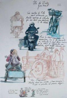Une Bretagne par les Contours / Île de Batz A Level Art Sketchbook, Artist Sketchbook, Watercolor Illustration, Watercolor Art, Urban Sketching, Watercolor Portraits, Illustrations, Mixed Media Art, Art Sketches