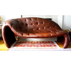 Tufted Leather Chaise Love Sofa by bathodesign on Etsy https://www.etsy.com/listing/209745640/tufted-leather-chaise-love-sofa