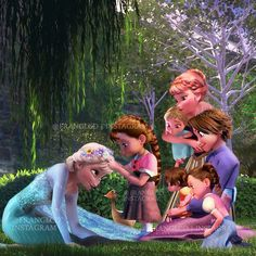 This proves my theroy on that Elsa and Anna and rapunzel are cousins Disney Princess Fashion, Disney Princess Frozen, Disney Princess Drawings, Disney Princess Pictures, Disney Drawings, Disney Princesses, Cute Disney, Disney Girls, Disney Art