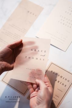 Grace collection Save the Date created using black ink and nude vellum Pixel Tuning Shop Modern Wedding Stationery, Wedding Stationery Inspiration, Wedding Invitation Design, Wedding Stationary, Lettering, Branding, Name Cards, Stationery Design, Business Card Design